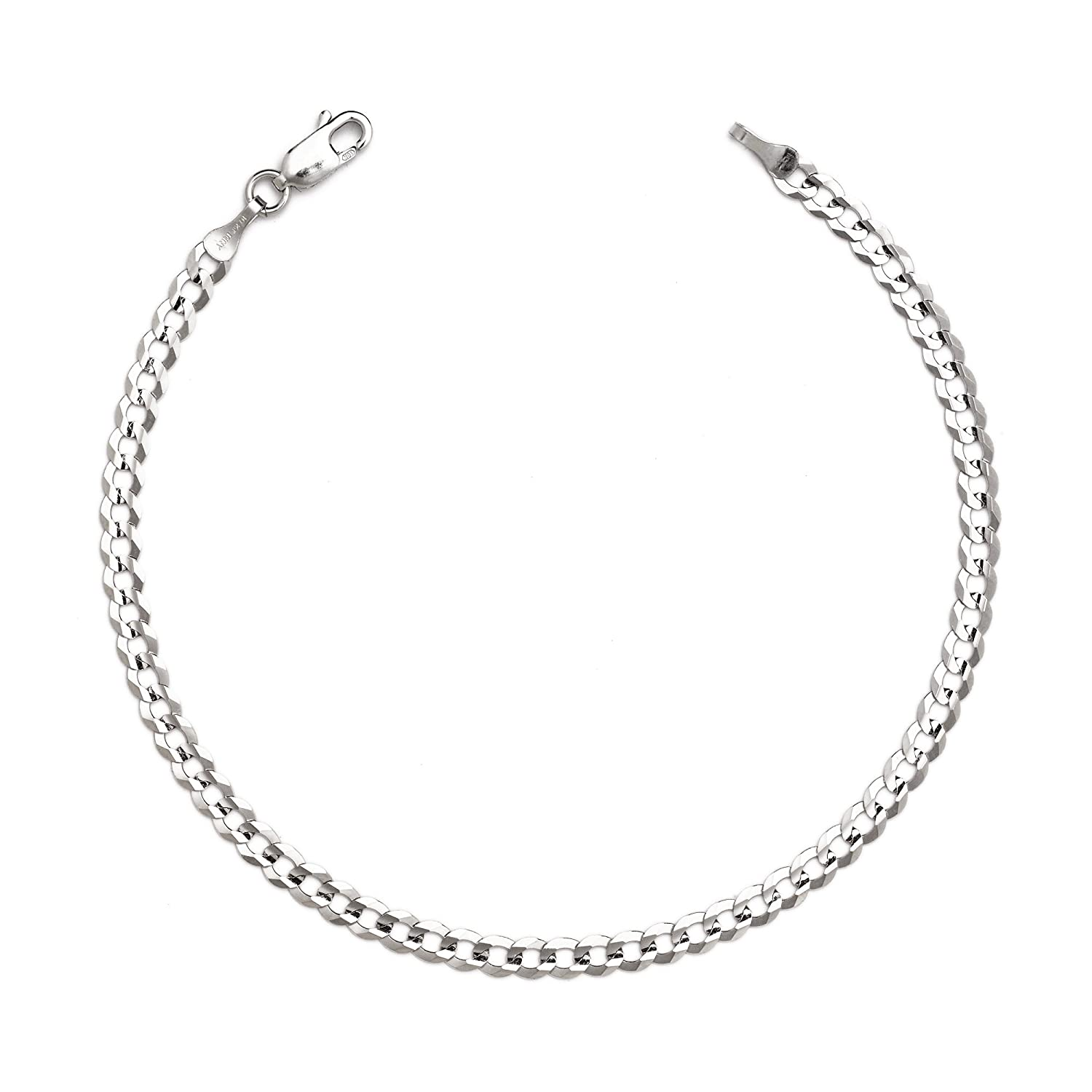 snake chain the white anklet octagonal pin mm continue product to ankle gold