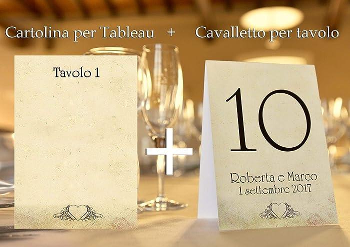 78a20263d908 Tableau de mariage matrimonio - vintage nozze vari modelli disponibili set  cartolina + cavalletto tavolo