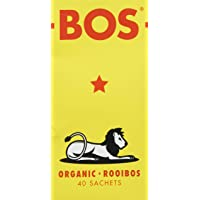 BOS Pack de 40 Sachets de Thé Rooibos Séché Carton 100 g