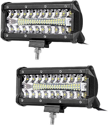 Barra de luz LED de 7 pulgadas, 240 W, foco de inundación, haz ...