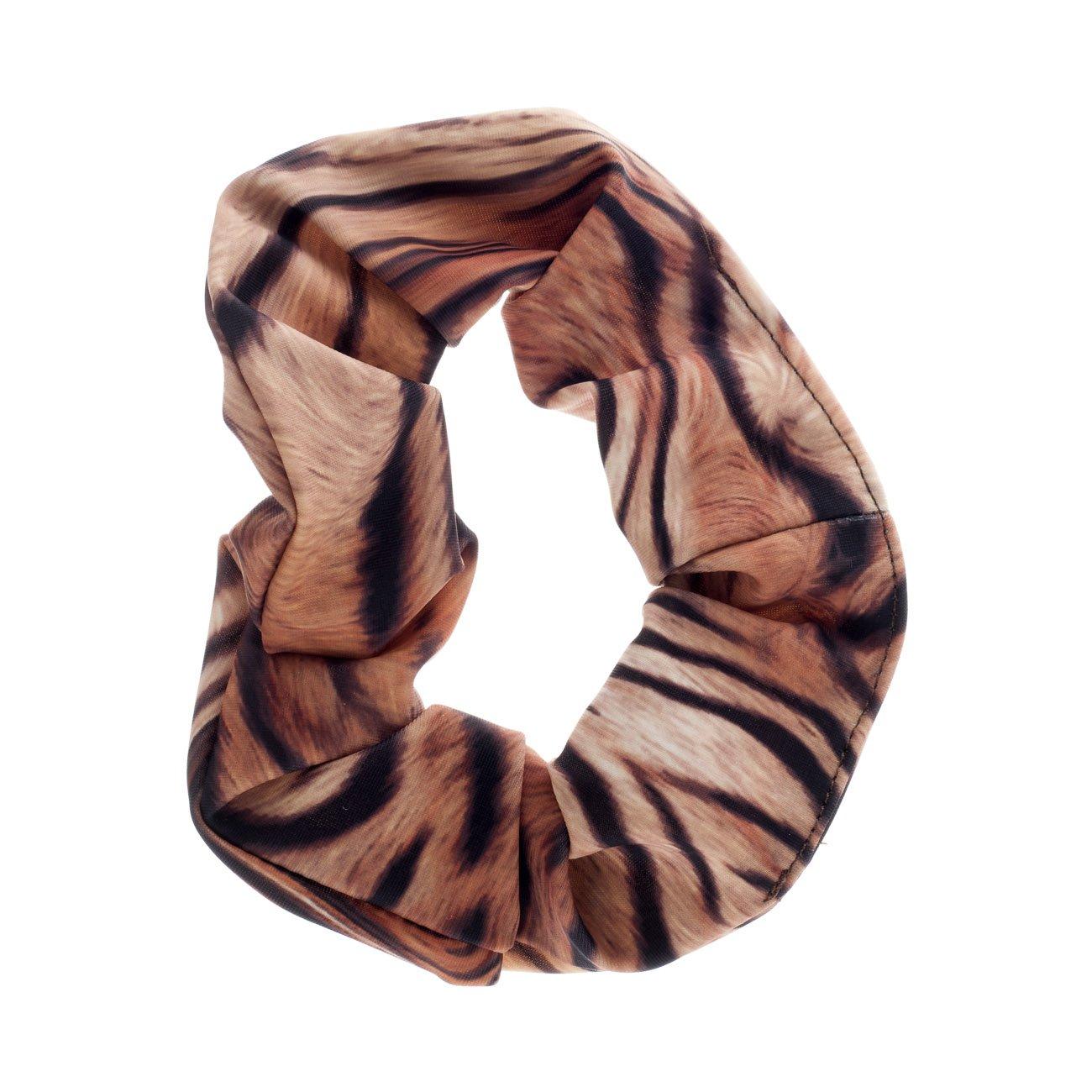 Girls Ladies Tiger Animal Print Nylon Lycra Hair Scrunchie Fancy Dress By Katz Dancewear Katz Dancwear
