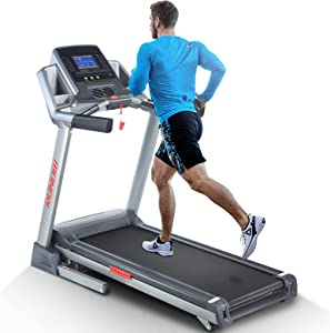 RUNOW 6631CA Folding Treadmill for Home with Auto Incline, Bluetooth Speaker, Large LCD Display Console, Electric Running and Walking Machine with 40 Programs, 3.5HP Foldable Treadmill