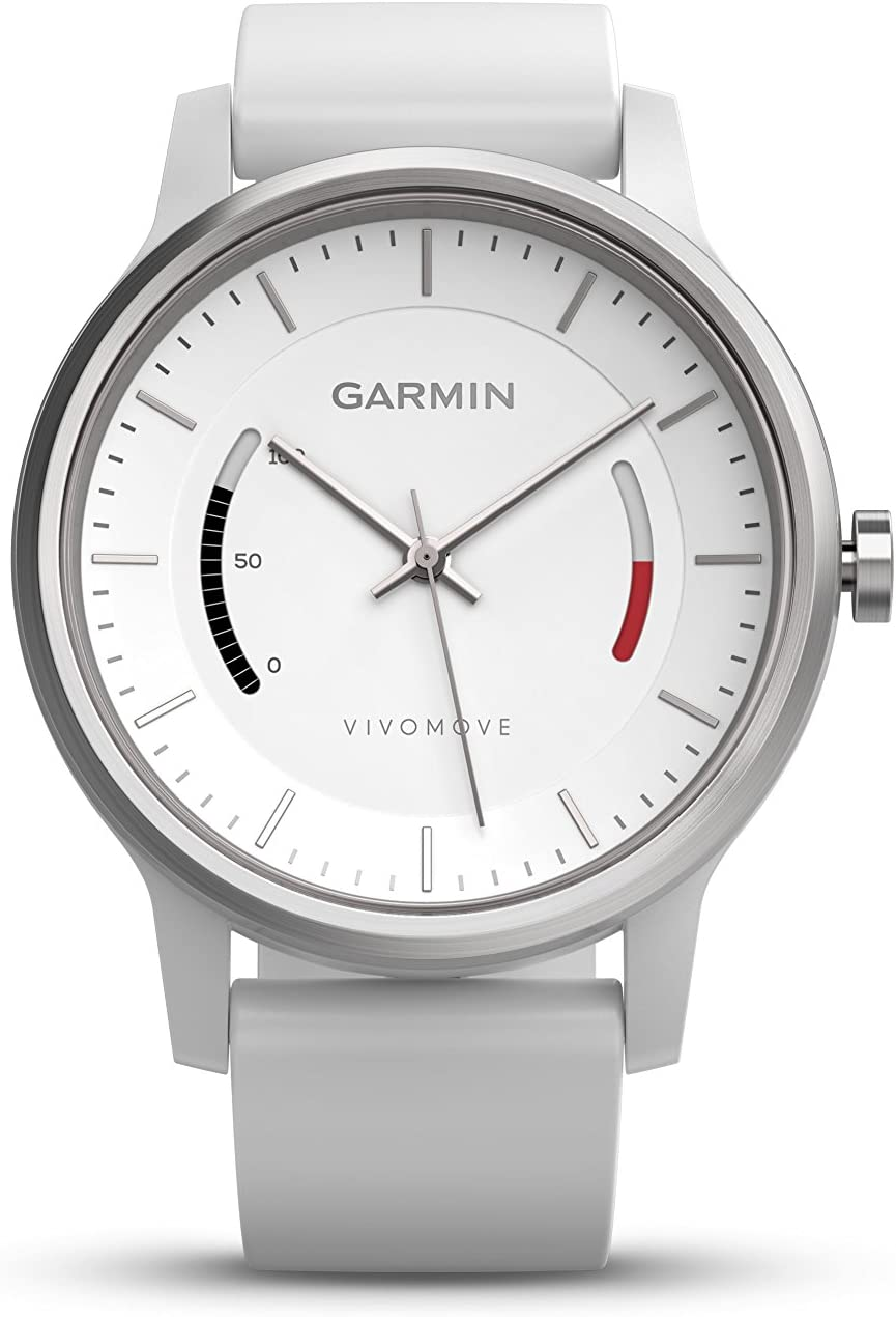 Garmin vivomoveクラシック – ローズゴールド調withレザーバンド 1.3 010-01597-03 ホワイト