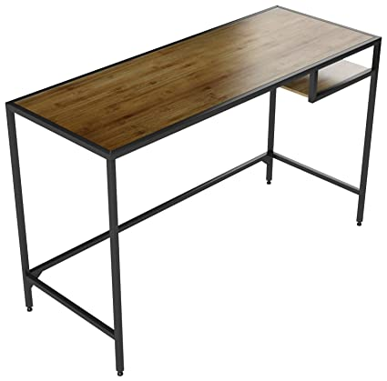 Industrial Vintage Design Space Saver Entryway Hallway Console Table Desk  With Lower Shelf Storage, Wood