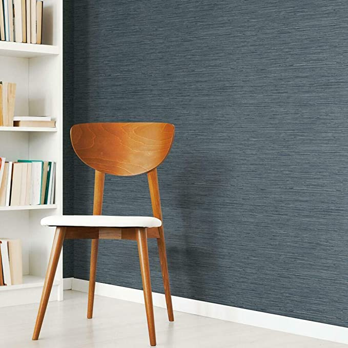 "RoomMates Peel and Stick Grasscloth Wallpaper 20.5/""x198/"" Tan Size"