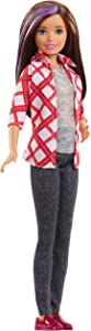 Barbie Dreamhouse Adventures Skipper Doll, Approx. 11-Inch, Brunette in Plaid Shirt and Black Pants, Gift for 3 to 7 Year Olds