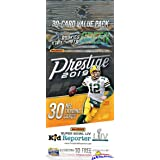 2019 Panini Prestige NFL Football EXCLUSIVE Factory Sealed JUMBO FAT PACK with 30 Cards including 4 Rookies & 6 Inserts…