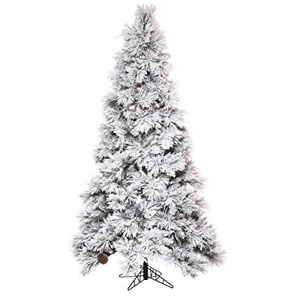 Vickerman Christmas Trees.Vickerman Flocked Atka Pine Christmas Tree