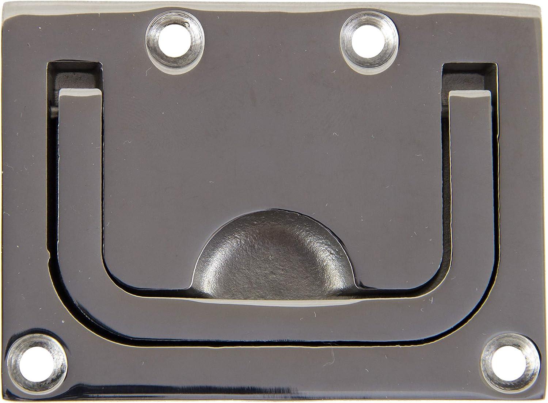A4 Bootsteile Brauer Bodenheber RUND D= 50 mm Feinguss poliert Edelstahl AISI 316