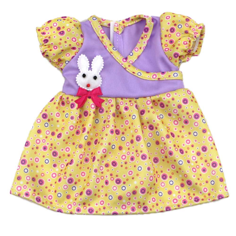 AOFUL Baby Doll Clothes Small Rabbit Decoration Doll Dresses for 12 -16 Inches American Girl Dolls by AOFUL CLO-003-49-01