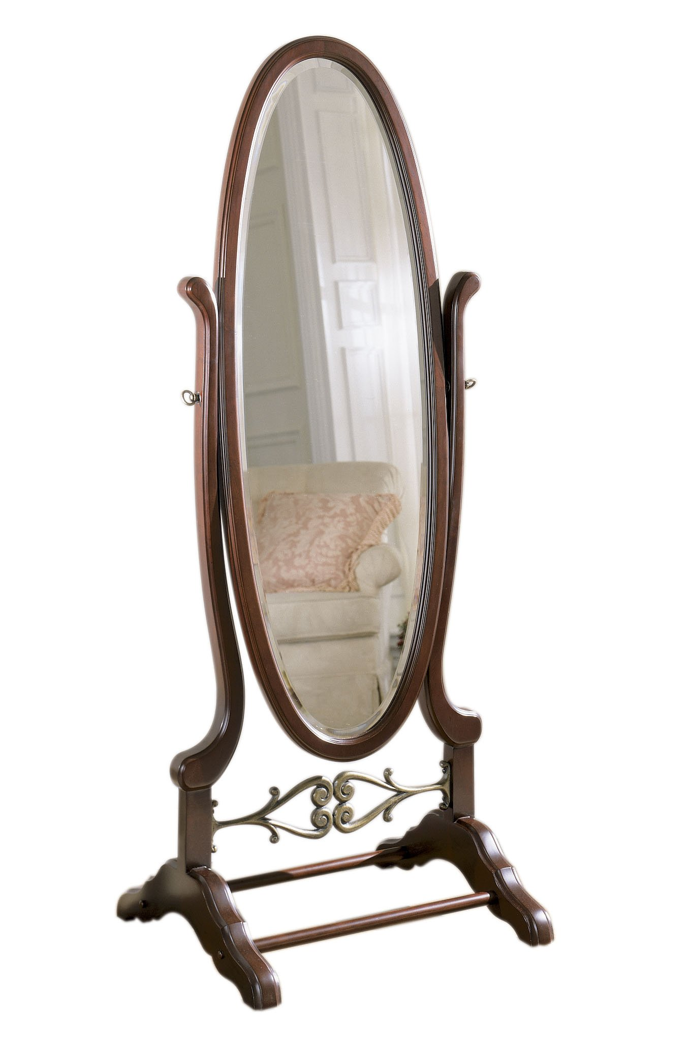 Powell Heirloom Cherry Cheval Mirror
