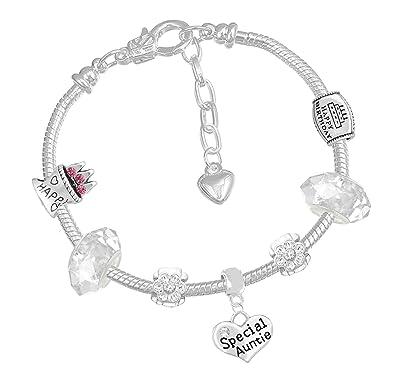 Nanny Birthday Charm Bracelet with Gift Box Womens Jewellery j5C1K3