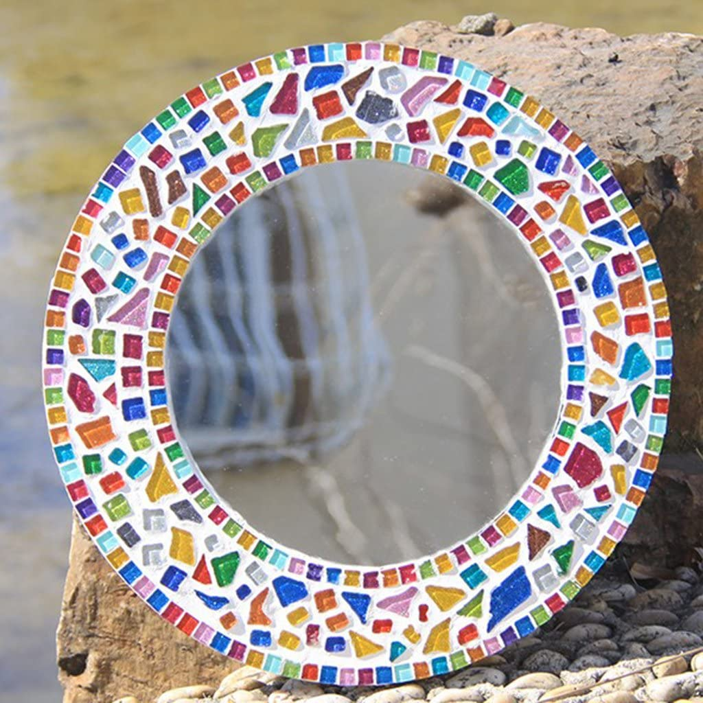 Jili Online 70 Pieces Rectangle Shape Assorted Colors Glass Pieces Mosaic Tiles Tessera for Arts DIY Craft 10x40mm