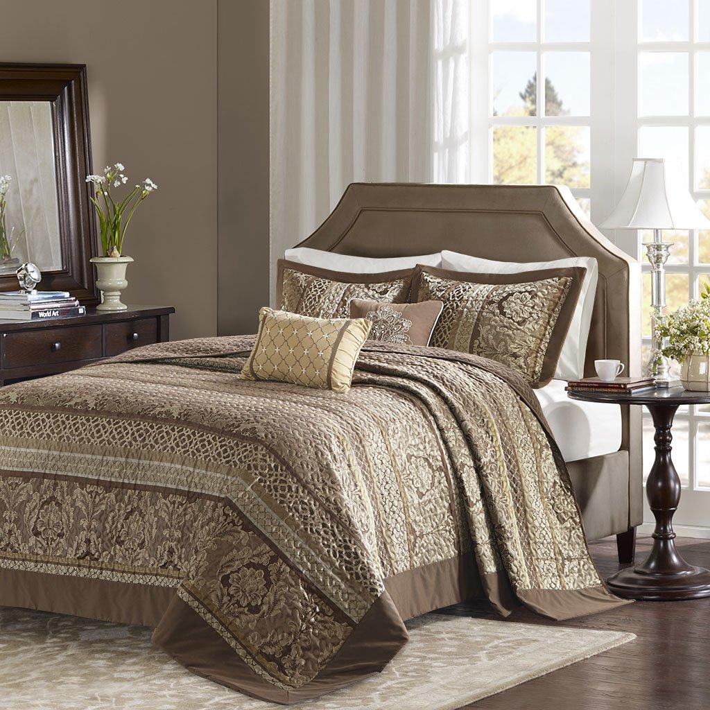 Madison Park Bellagio Bedspread Set, Oversize King, Brown/Gold by Madison Park (Image #2)