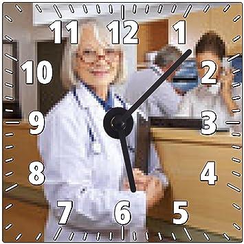 my-puzzle-design Wanduhr Arzt und Rezeptionist im Krankenhaus ...