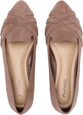Pointy Toe Suede Ballet Cute Casual
