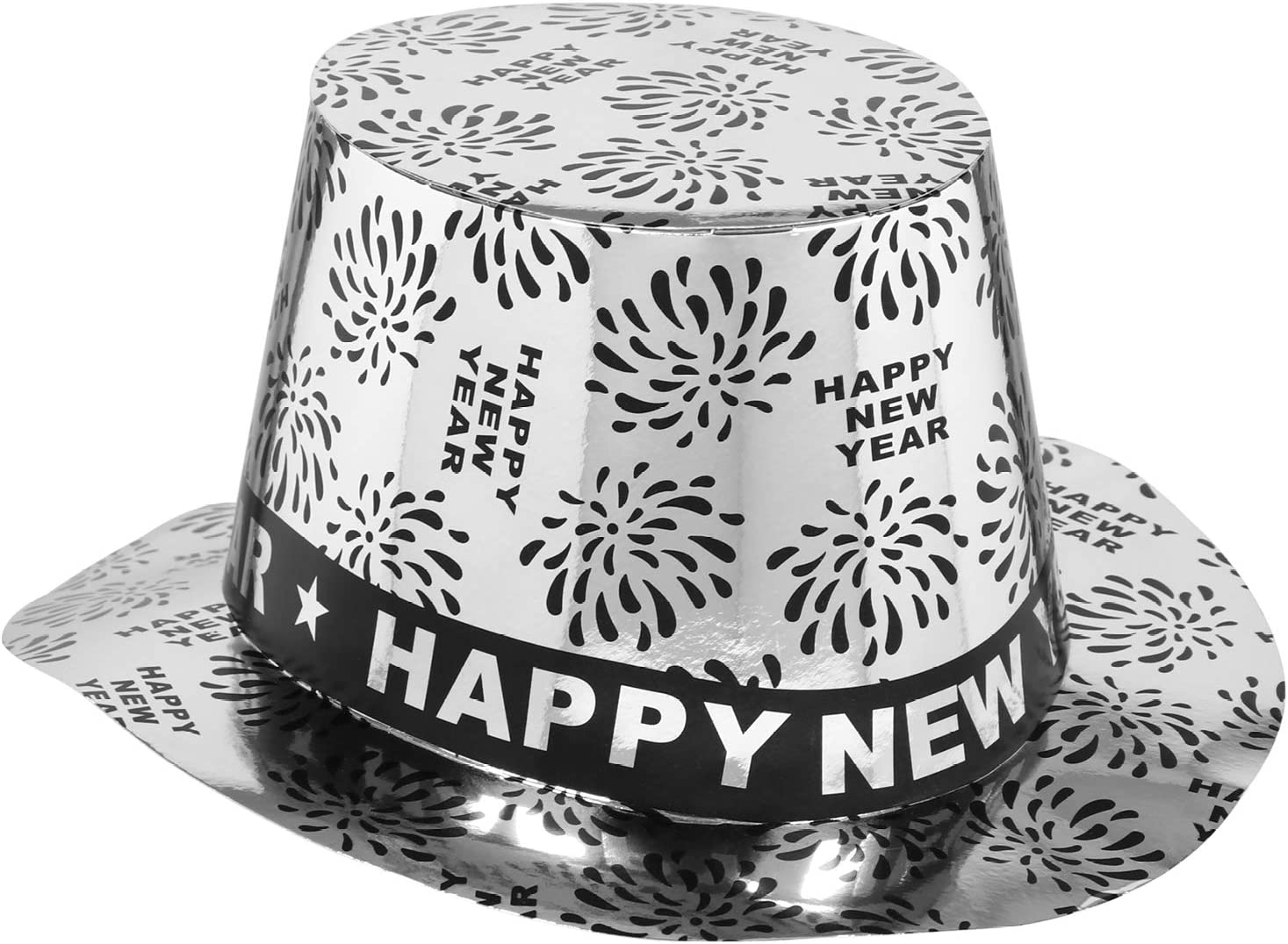 Headgear for New Years party Set06 - cylinder Cylinder Happy New Year for New Years Eve com-four/® 2x New Years party hat