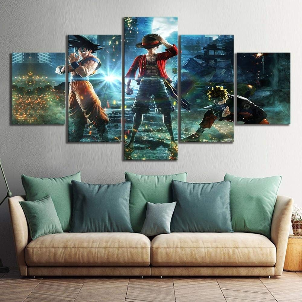 Impresiones sobre Lienzo,Dragon Ball Goku Naruto One Piece Luffy Juego Poster Im/ágenes HD Sala de Estar Decoraci/ón de Pared Tama/ño A