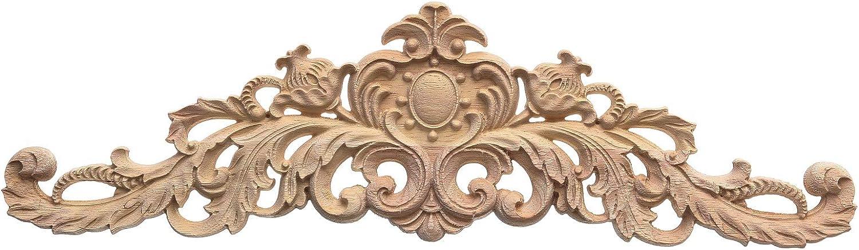 Longwood Applique,80x20cm European Style Wood Carving Applique DIY Decoration for Home Furniture Courtyard Corner Onlay Applique