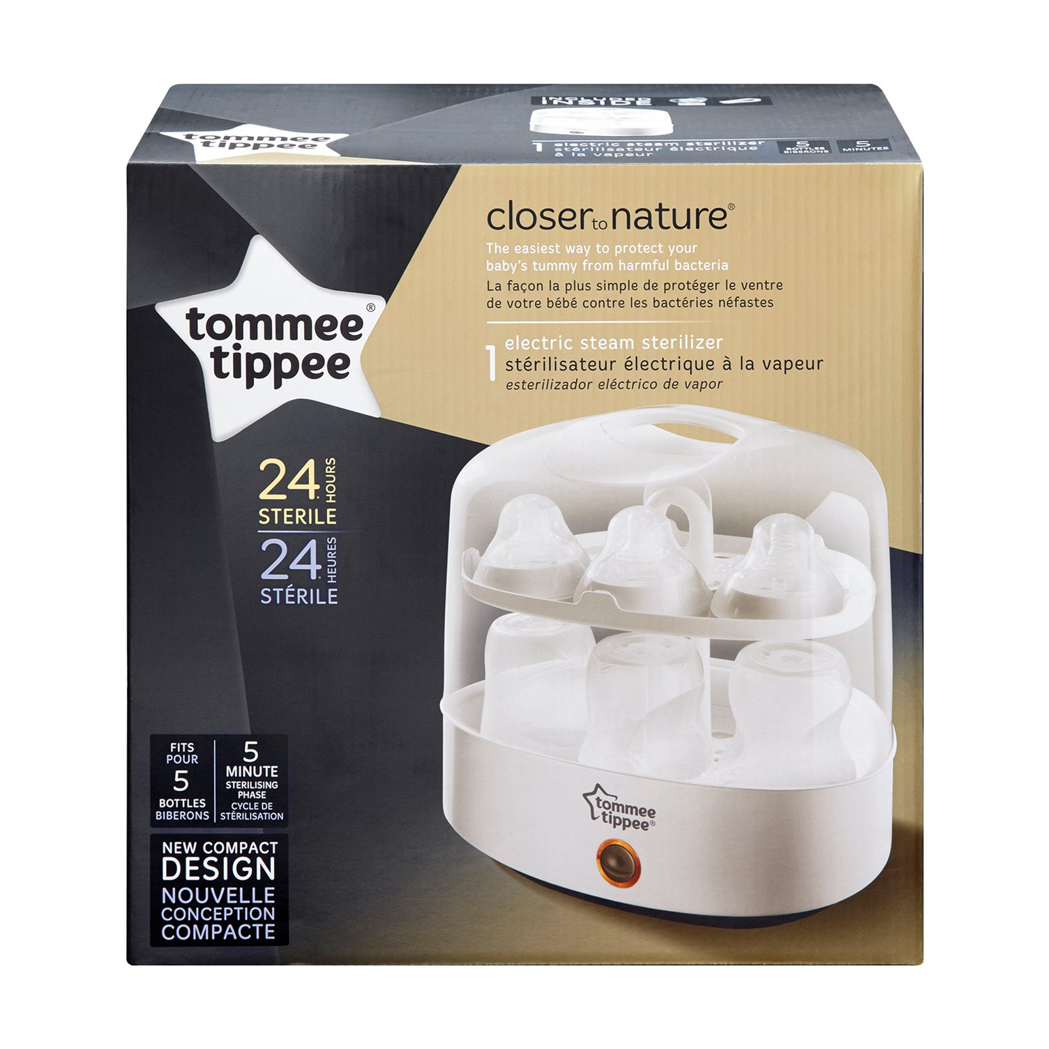 Tommee Tippee Electric Steam Baby Bottle Sterilizer - Sterilizes in 5 Minutes - BPA Free by Tommee Tippee (Image #4)