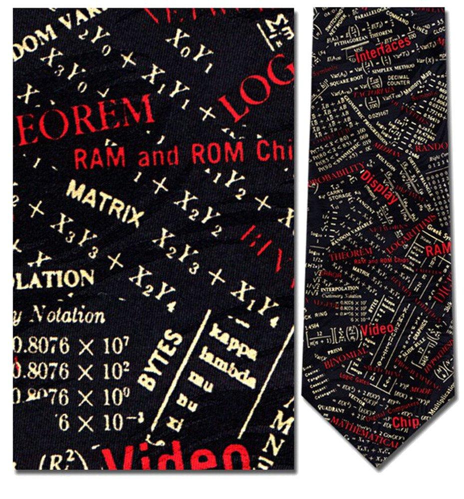 Mens 100% Silk Navy Blue Engineering Terms Engineer Necktie Tie Neckwear
