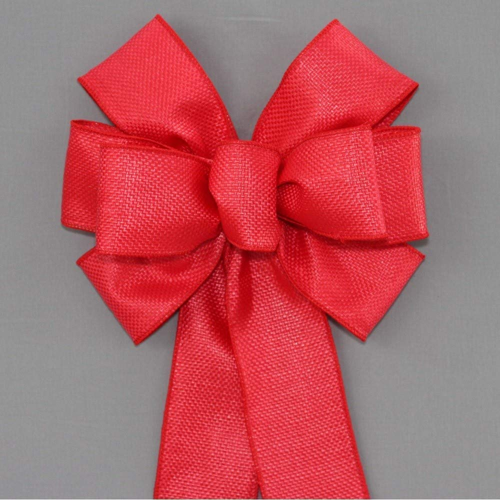 Red Woven Outdoor Christmas Wreath Bow