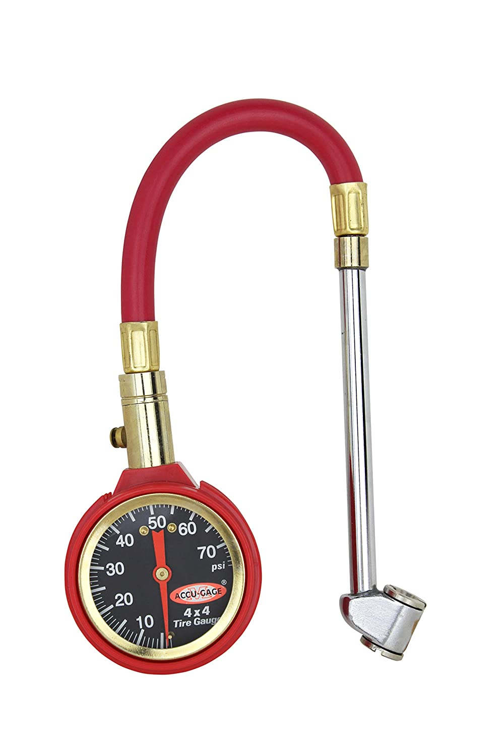 Air Tire Pressure Checker Checking Dial Gauge with Hose Gage
