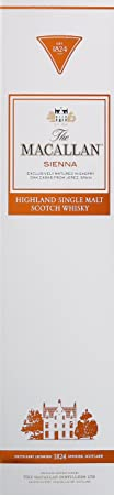 Macallan Whisky Escocés Single Malt Sienna, 15 años - 0.7 L
