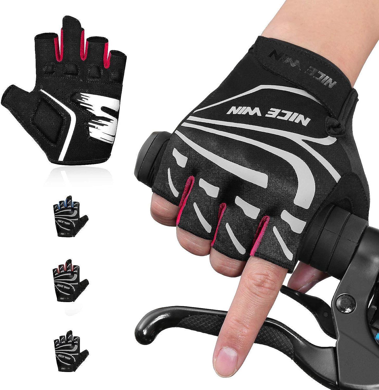 NICEWIN Fingerless Dirt Bike Gloves for Women Men Motorcycle Tactical Driving ATV Cycling