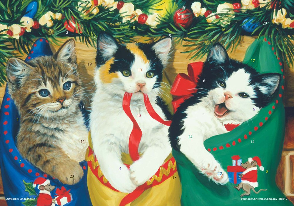 Kitties Advent Calendar Vermont Christmas Company