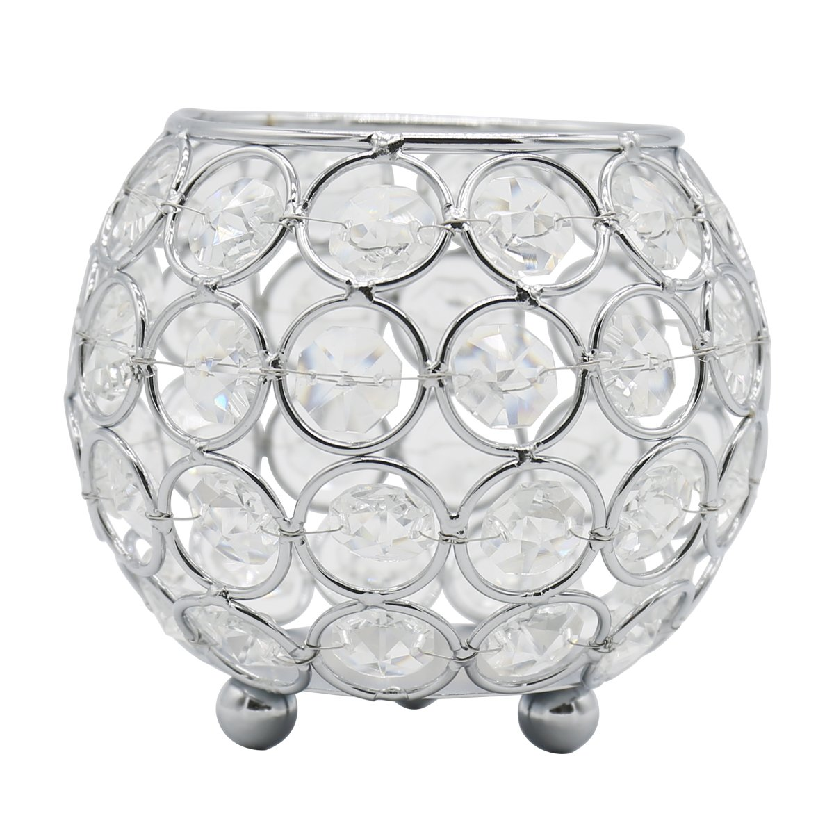 Joynest Crystal Tea Light Candle Lantern Holders, Wedding Coffee Table Decorative Centerpieces for Home Décor Party Mothers Day Birthday House Gifts (4'', Gold)