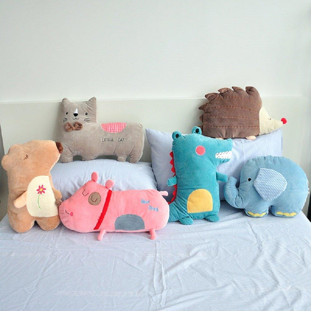 YOUSA 6-Piece Cartoon Animal Throw Pillows Kids Decorative Pillows