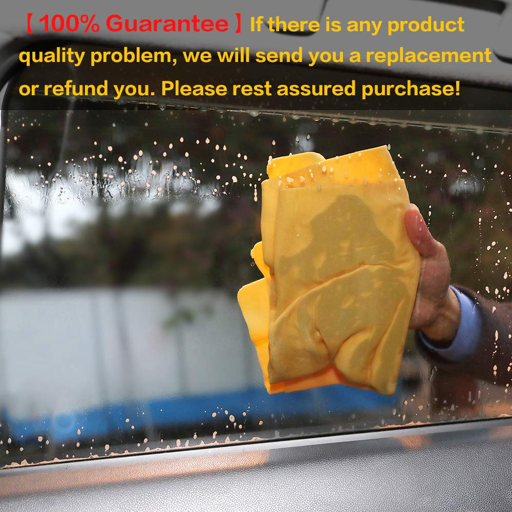pink, 25 x 17 inches, 1 pack, 5 available colors for you choose. Car Wash Chamois Towel【Come with storage tube】Learja Premium Synthetic Deerskin Leather Auto Cleaning Drying Cloth