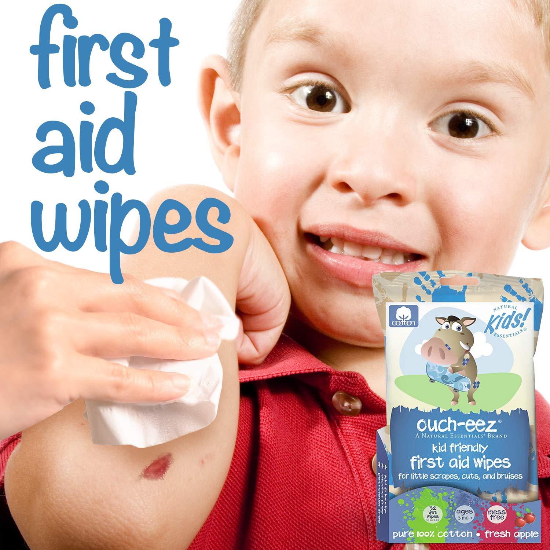Natural Essentials Ay-Eez, Para niños de primeros auxilios 100% algodón Paños, 32-cuenta: Amazon.es: Bebé