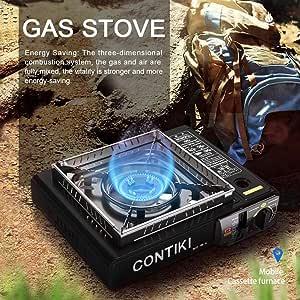 zaote - Hornillo de Gas de Camping portátil con Doble ...
