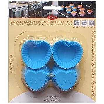 12 Stuck Mini Muffin Kuchenformen Herz Silikon Backform