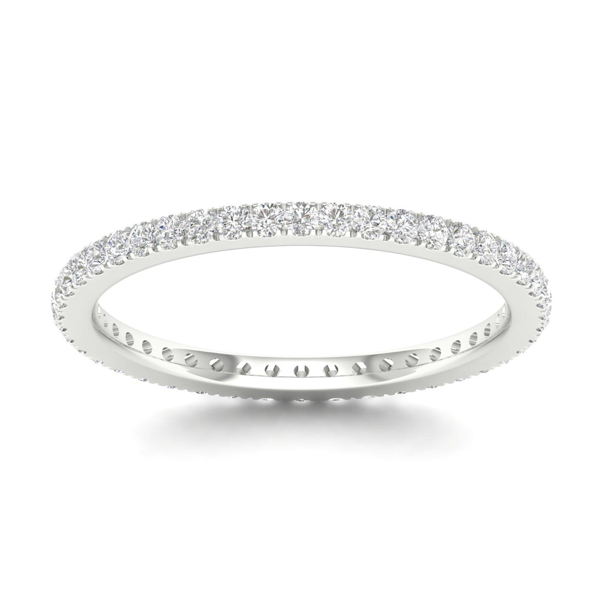 IGI Certified 14k White Gold 1/3ct TDW Diamond Eternity Wedding Band (H-I, I2) by Diamond Hub