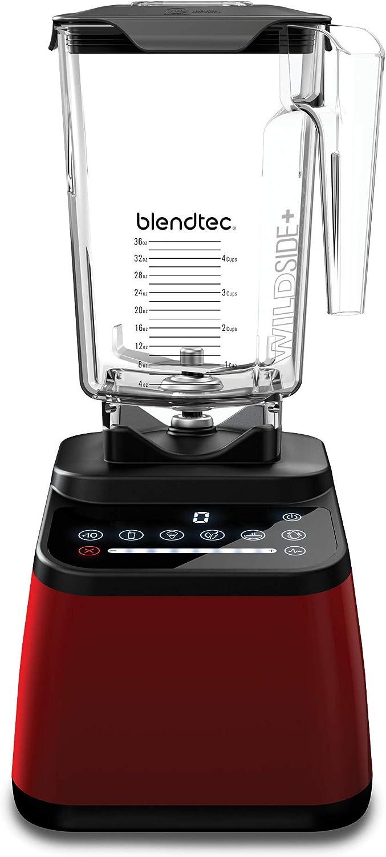 Blendtec Designer 675 Blender - WildSide+ Jar (90 oz) - Professional-Grade Power - 5 Pre-Programmed Cycles - 8-Speeds - Pomegranate