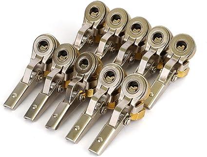 Brass Tire Air Chucks for Your Car. Car Air Pump American Threaded Mouth Adapter Car Air Pump Accessories Quick Conversion Head Clip Air Valve