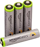 AmazonBasics 4 Pack AAA High-Capacity Rechargeable Batteries Pre-Charged (Typical 850mAh, Minimum 800mAh) - Packaging May Vary