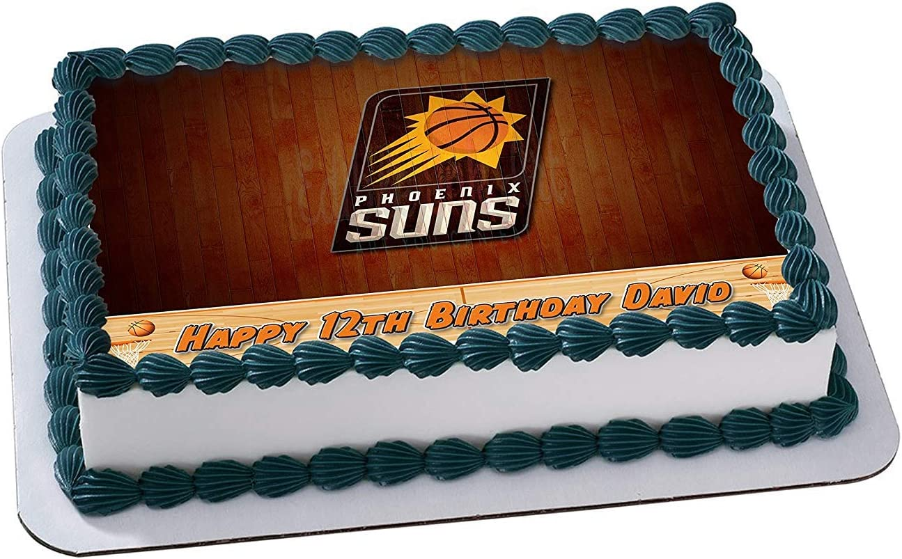 Awe Inspiring Amazon Com Phoenix Suns Basketball Edible Image Cake Topper Funny Birthday Cards Online Barepcheapnameinfo
