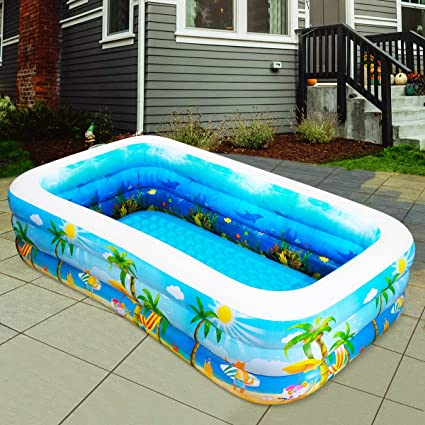 df59583fa14 Amazon.com  Inflatable Pool. Cool Portable Blow Up Above Ground ...