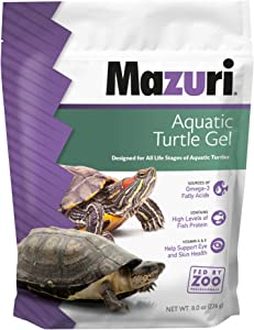 Mazuri | Nutritionally Complete Aquatic Turtle Food | Easy-to-Serve Gel | Freshwater Formula- 8 Ounce (8 oz) Bag