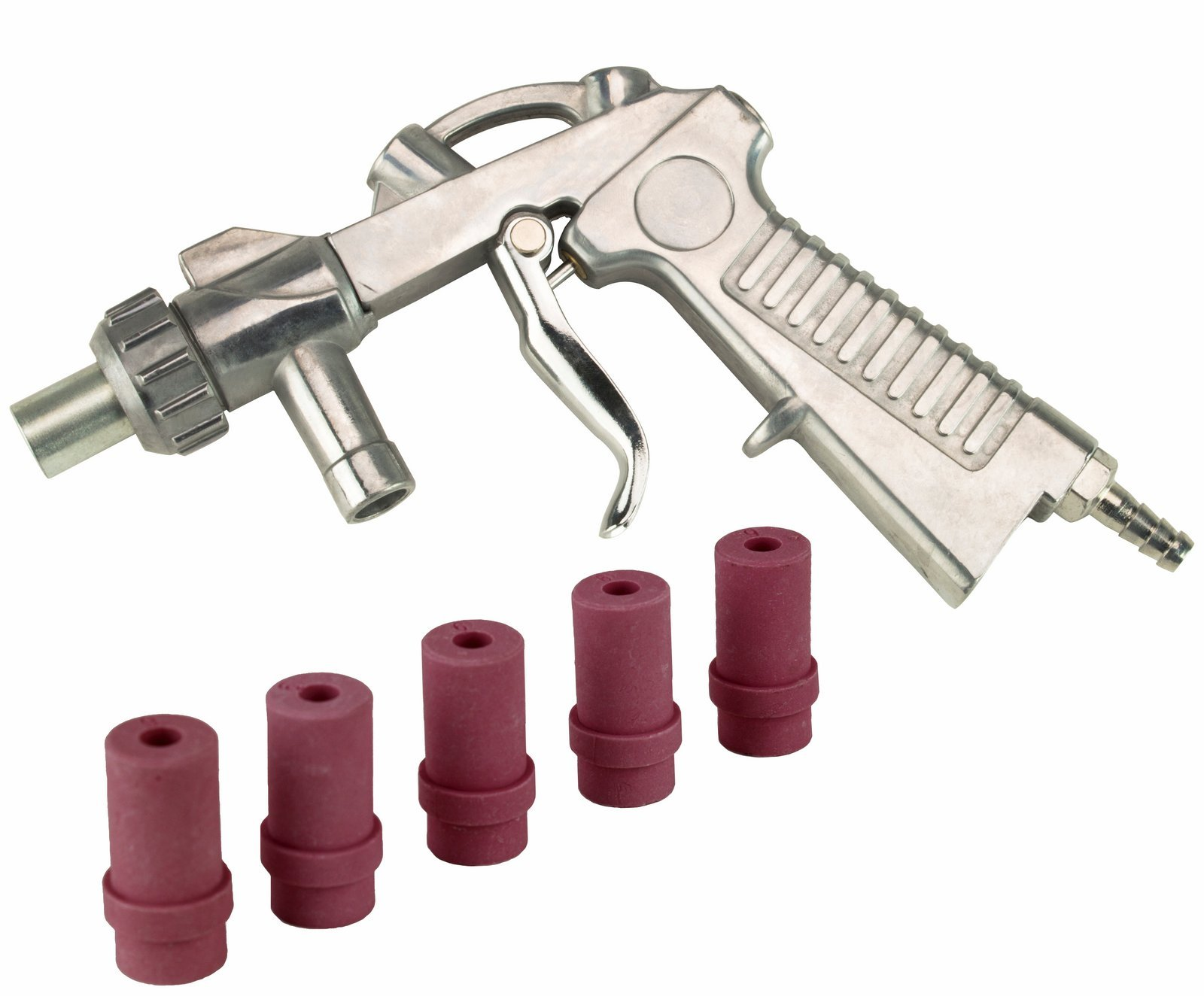 Dragway Tools Blast Media Gun & (5) 6MM Nozzles for 25 60 90 Sandblast Cabinet