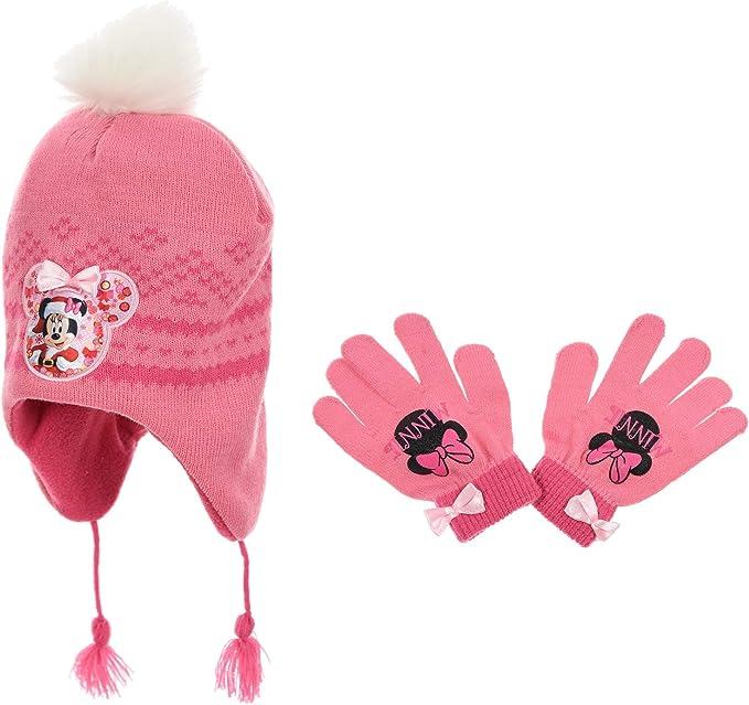 Gloves Minnie Mouse Girls Set Beanies