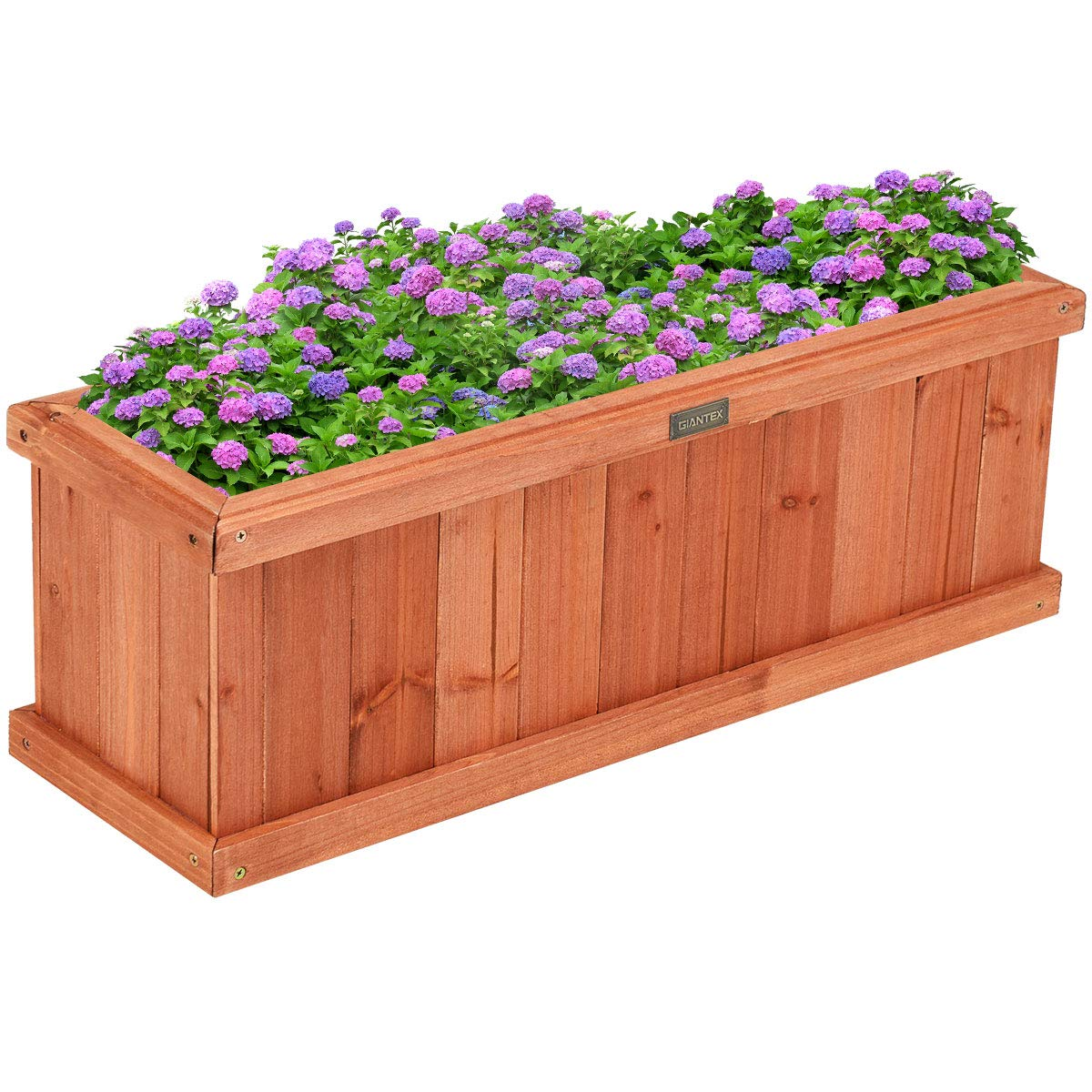 Giantex Raised Garden Bed Flower or Vegetable Planter Window Mounted Plant Box for Garden, Yard Wood Box for Planting (28'' LX9 WX10 H) by Giantex