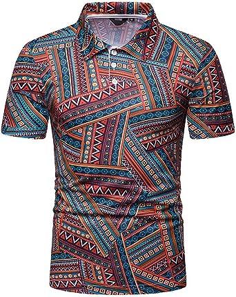 Camiseta Hombres Verano Moda Polo Camisa Tops Manga Corta ...
