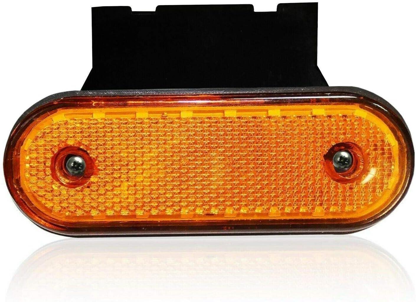colore: arancione ovali 6 luci di posizione e staffe per camion e rimorchi a LED Flexzon