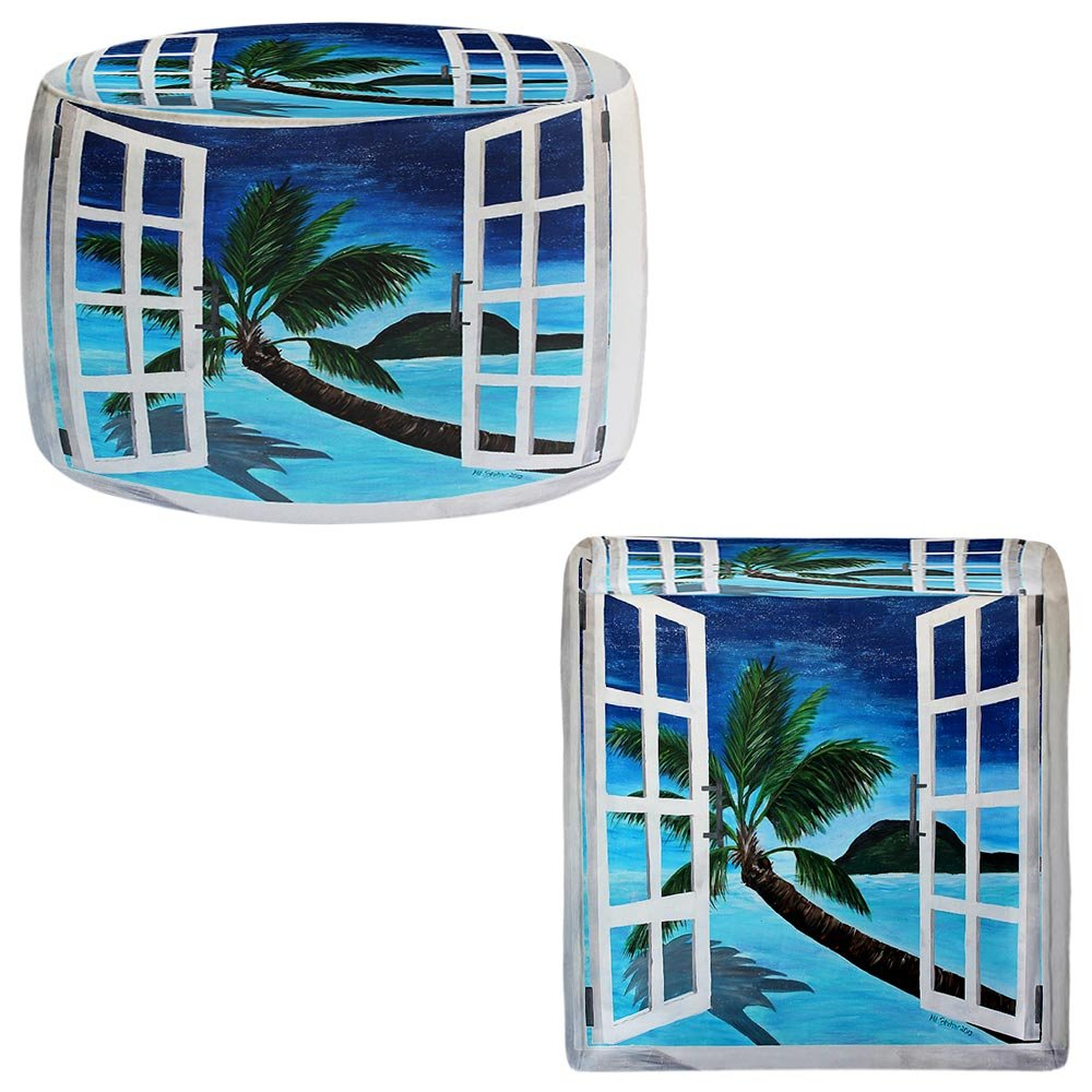 Foot Stools Poufs Chairs Round or Square from DiaNoche Designs by Martina Bleichner - Window To Paradise