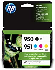 HP 950/951 Black, Cyan, Magenta & Yellow Ink Cartridges, 4 Cartridges (CN049AN, CN050AN, CN051AN, CN052AN)